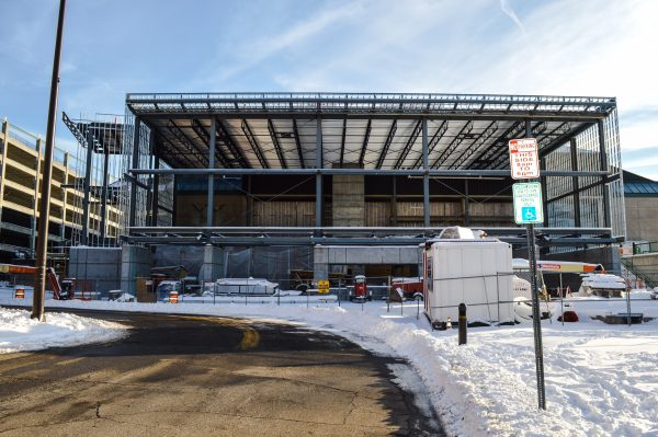 Gone are the steps, and the facility's general manager says he will not miss the snow removal process.