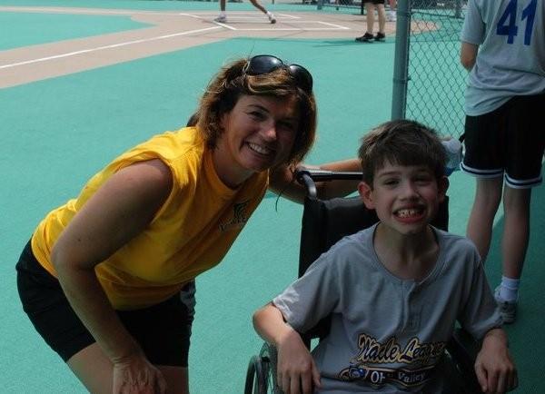Lorraine McCardle and her son Austin.