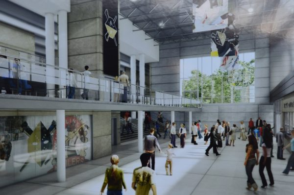 The new lobby will feature the box office and a new Nailers gift shop.