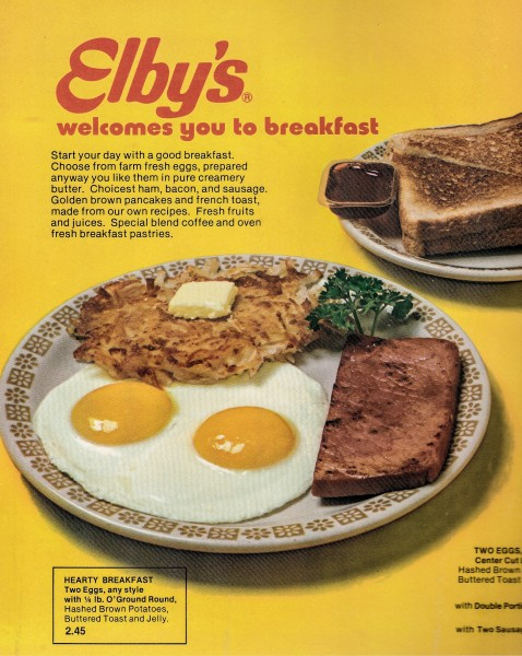 Breakfast also was a popular meal at most Elby's, and the breakfast bar revolutionize the food service industry.