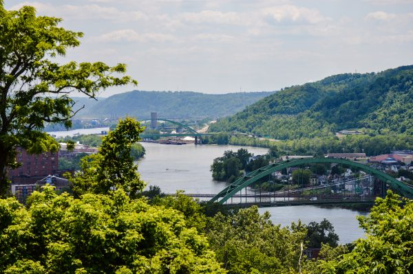 The Ohio River flowing past the Friendly City can easily be seen from the castle.