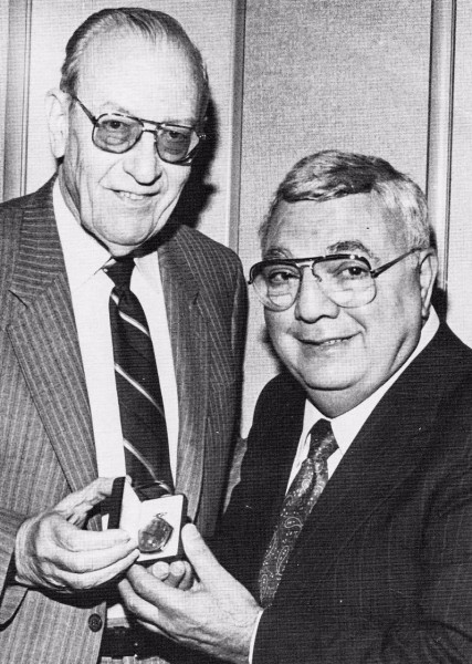 Legendary sports editor Bill Van Horne honored George Boury in the early 1980s with a watch from the Rose Bowl.