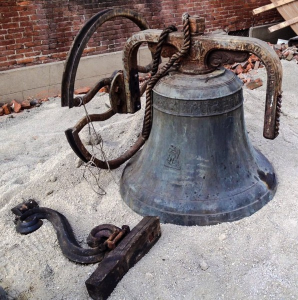 One of the notable features of the church was the original George W. Coffin bell from 1850. (Photo by Richard Pollack)