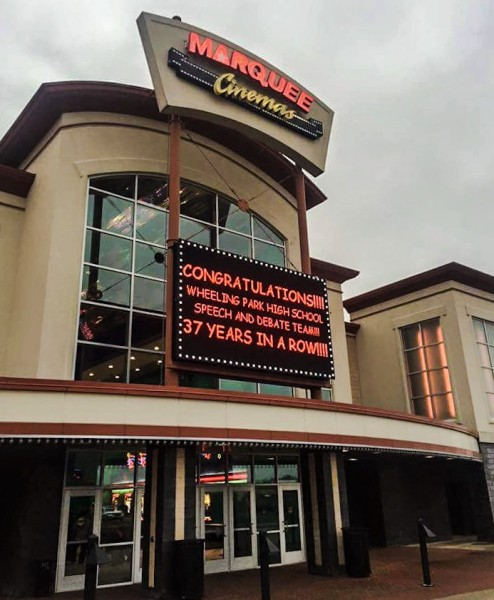 Soon after the good word reached Ohio County the management of Marquee Cinemas kicked off the public celebration.