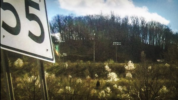 Growth can be seen along Interstate 70 at this time of year.