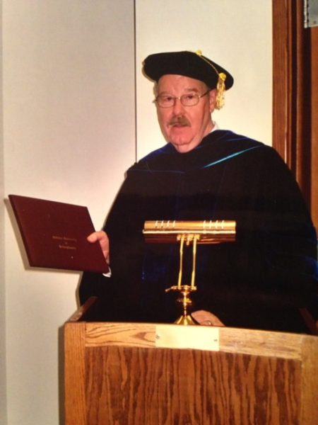 Dr. Smith awarding diplomas at Indiana University of Pennsylvania.