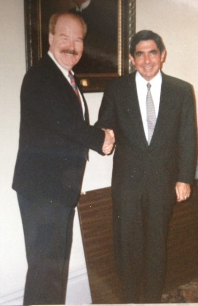 Dr. Smith with former Costa Rican president Nobel Prize winner, Óscar Arias Sánchez.