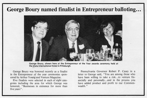 George was a celebrated businessman until the Boury brothers sold the Elby's franchise to the Elias Bros.