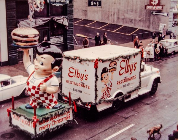 George Boury insisted that Elby's had a presence in as many parades as possible in the Wheeling area.