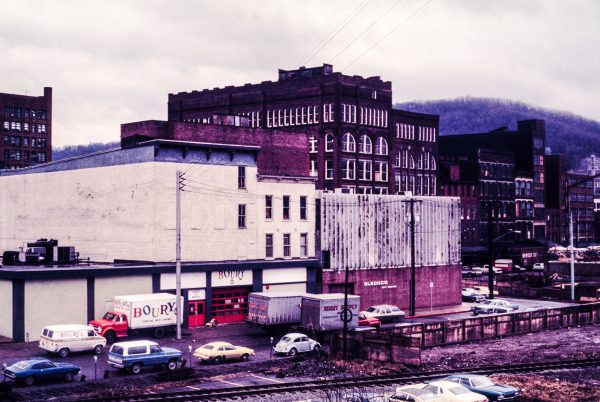 The buildings that once house the service and parts department along Water Street have since been demolished.