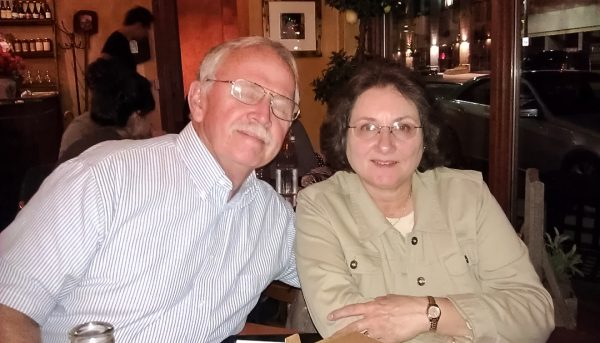 Lloyd Adams and his wife, Jennie, related to Wheeling in 1980.