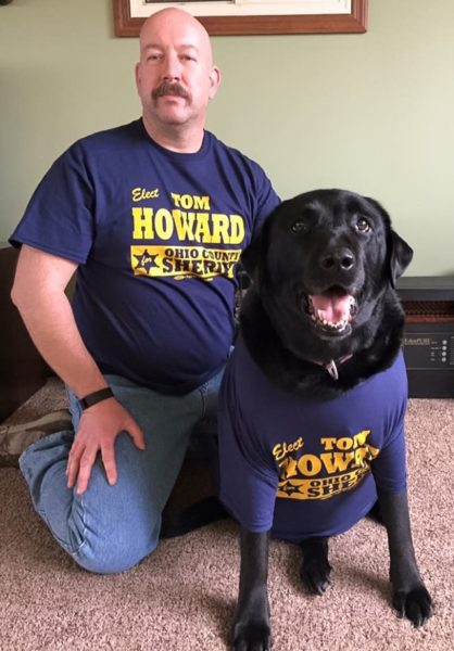 Howard, a 20-year veteran of the Wheeling Police Department, is a pet lover.