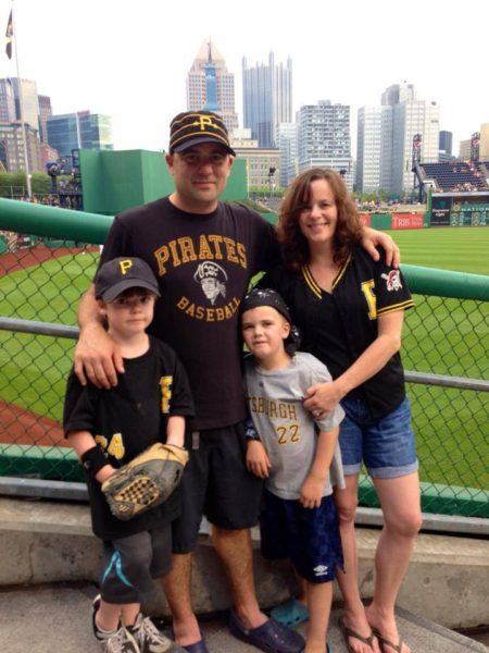The Koegler family members are big Pirates fans.