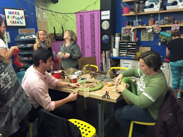 Adult Craft Night is a popular event for the parents of the children who visit the Children's Museum.