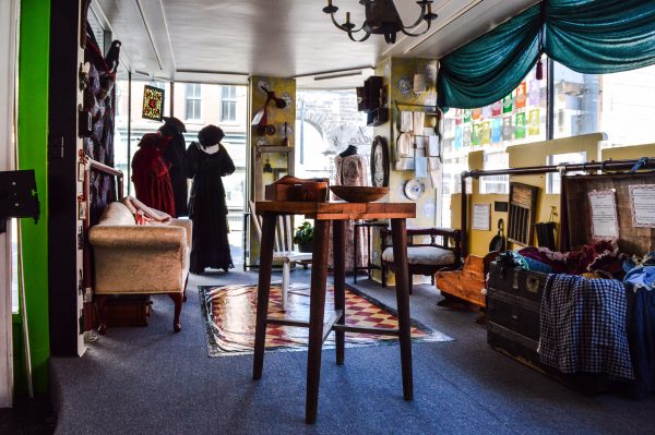"""Lydia's Attic"" is a storefront area that is dedicated to the memory of Lydia Boggs Shepherd, a legend in Wheeling's history."
