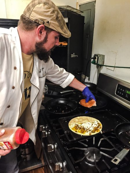 Butler is always creating ways to improve his creations, including his quesadillas at the Wheeling Brewing Company.