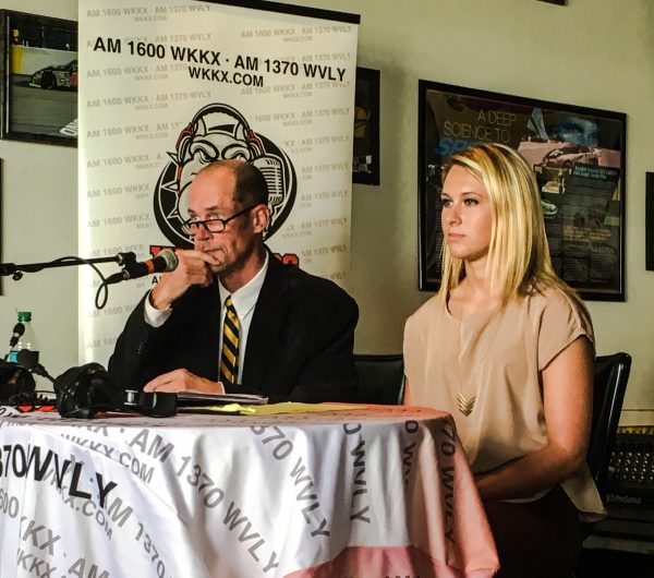 Wheeling Park High senior Danielle Kaminski was one of three Wheeling students to join Novotney and pose questions to Wheeling's mayoral candidates during the Watchdog Network's debate on May 2 at Quaker Steak & Lube.
