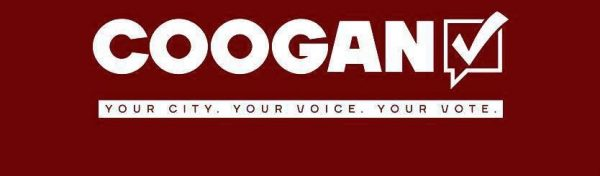 Coogan distributed his campaign signs to all corners of the Friendly City.