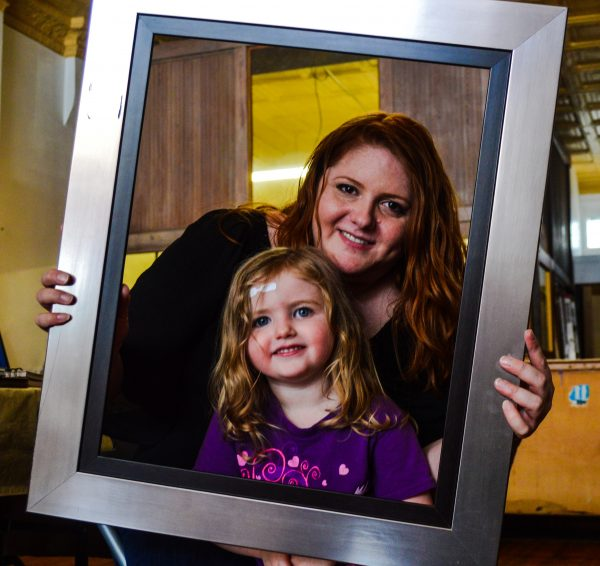 Erica Doanghy is the chair of Wheeling's Arts and Cultural Commission and she and her daughter, Fiona, are frequent customers of Cat's Paw Arts Studio.