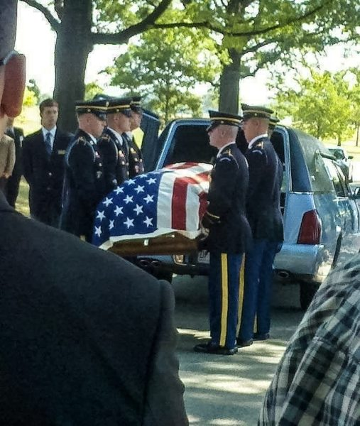 David was honored with a full military funeral service.