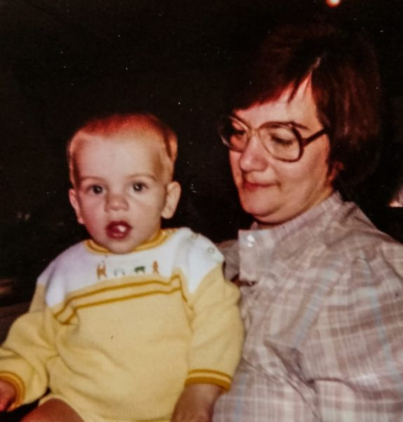 David with his mother, Linda.