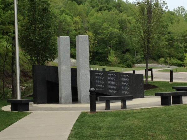 The memorial monument at the West Virginia Police Academy. (Photo provided by Bobbi Hoffer)