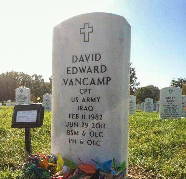 Capt. David Van Camp was laid to rest in Arlington National Cemetery.