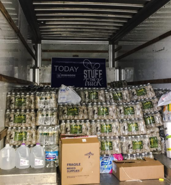 Roberta Olejasz began her collection efforts over the weekend at Robinson Auto Group at The Highlands and has dispatched a truck to Greenbrier County already.