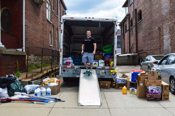 W.Va. Del. Shawn Fluharty (D-3rd) launched a collected effort Tuesday adjacent to the Harris Law Firm on 15th Street.
