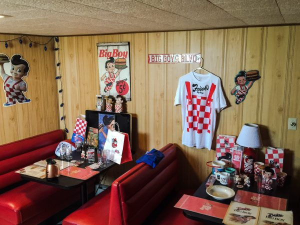 In honor of the Big Boy theme Van Fossen has recreated a booth setting in his home.