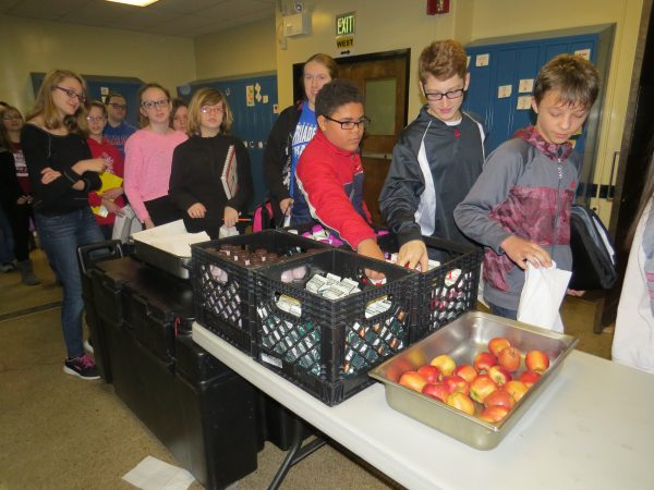 Milk and fresh fruit is available everyday at each of the districts 13 schools.