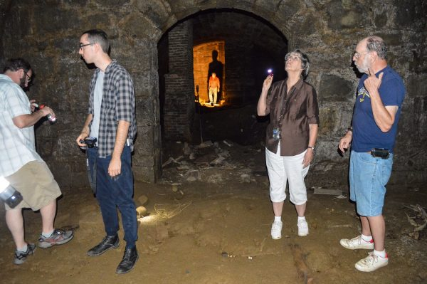 The cellar on Wheeling Island measure 84 feet in length and 19.5 feet wide, and the owners recently allowed Wheeling historian Jeanne Finstein and others to take a tour.