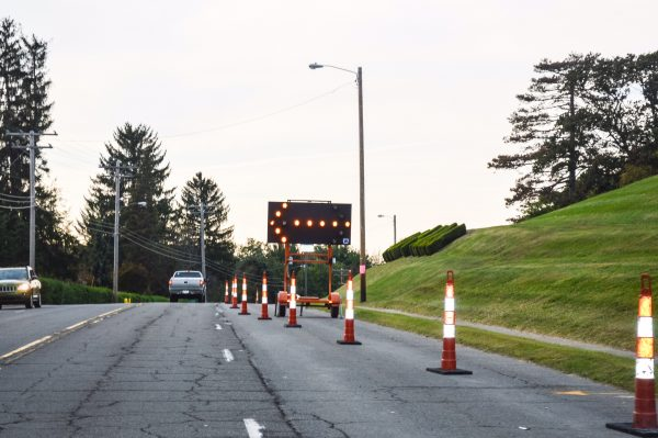 Lanes closures like this one near Wheeling Park remain present this weekend.