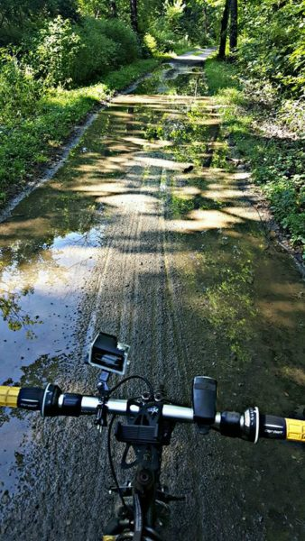 Although the sun shined at times the majority of the Cowpath trail was very muddy.