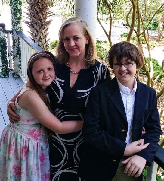 Christie Companion Varnado with her two children, Anne Wilson and Davis.