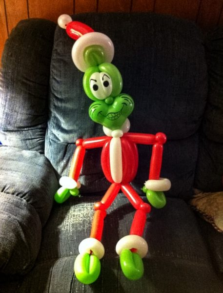 Staley learned long ago how to create famous figures using balloons.