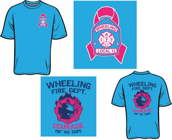 The firefighters added a new color beginning last year and the blue shirts are available once again.