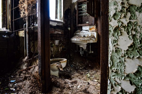 The decay has turned the former asylum into a most dangerous place.