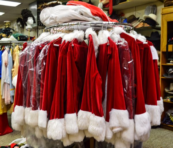 Stages features more than 30 Santa suits now on display on the store's main floor.