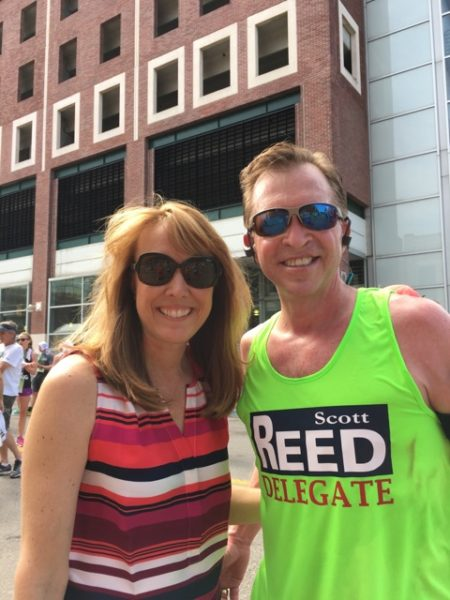 Reed is an avid runner and he competed in the Ogden Half-Marathon last May.
