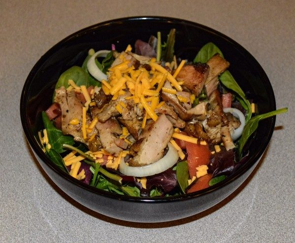 Here in the Upper Ohio Valley the chicken and steak salads are popular menu items.