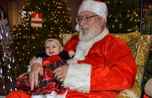 Santa Claus greets visitors each Saturday at the Imperial Christmas Shoppe.