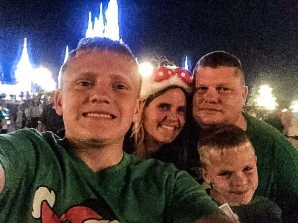 The Abraham family during a recent Disney World vacation.