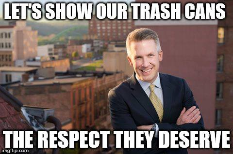Wheeling Mayor Glenn Elliott caught Bell's attention after residents complained about how employees of the city's Sanitation Department were treating garbage cans.
