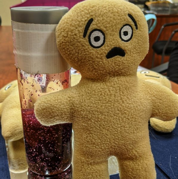 Therapy doll to help identify emotions
