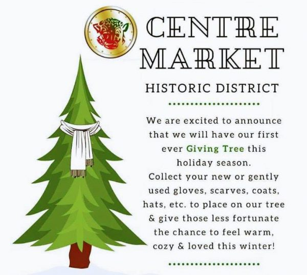 Centre Market announcement of Giving Tree