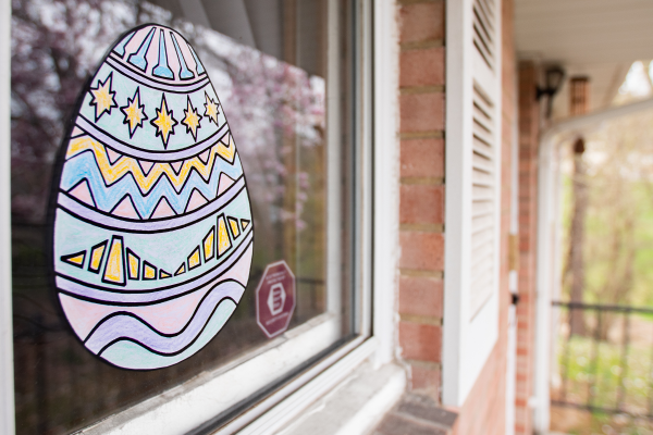 Easter Egg Window