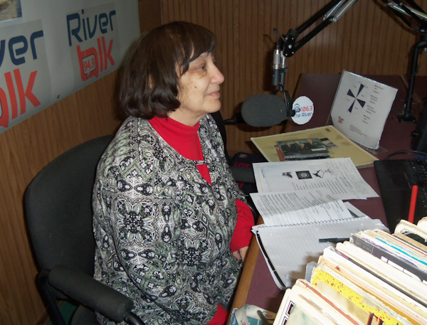 woman radio host
