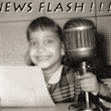 Pam at the age of 7 on the radio.
