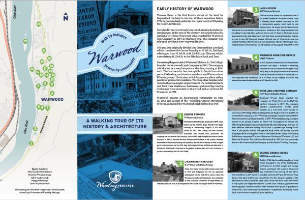 walking tour brochure